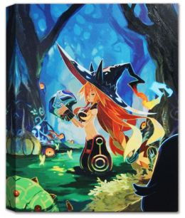 "The Witch and the Hundred Knight - ""Embrace the Knight"" Giclee"