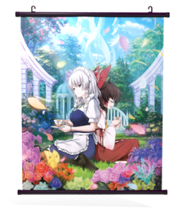 "Touhou Genso Wanderer Reloaded: ""Perfectly Elegant Tea Time"" Wall Scroll"