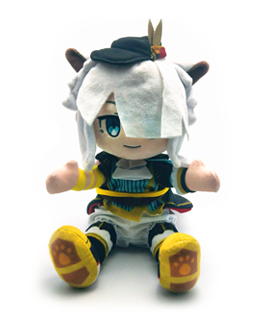Ys IX: Monstrum Nox - White Cat Ride-Along Plush