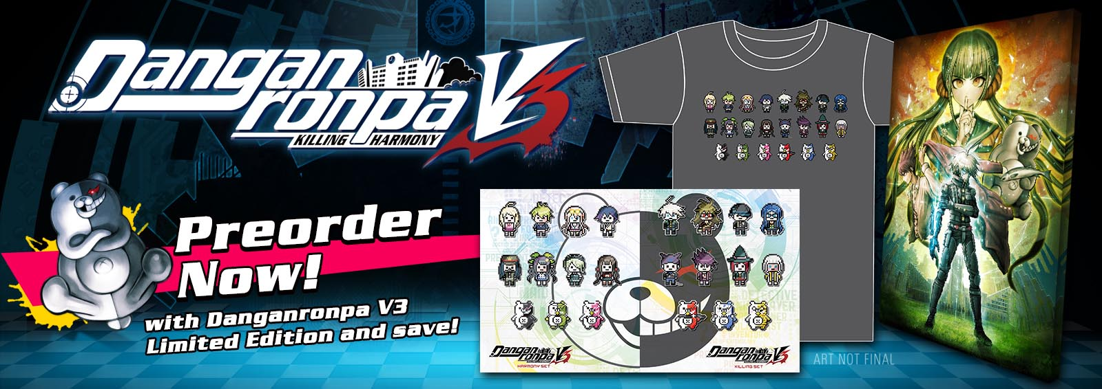 Preorder Danganronpa V3 Limited Edition and Save on Merchandise!